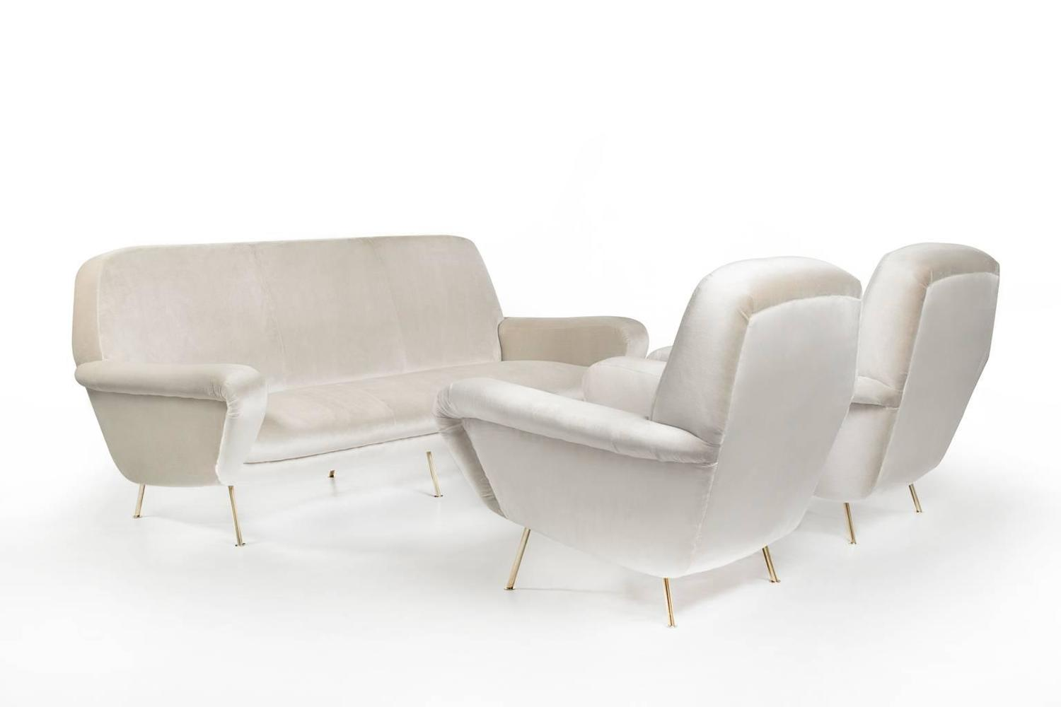 Pair of armchairs by gianfranco frattini for cassina for Cassina italy