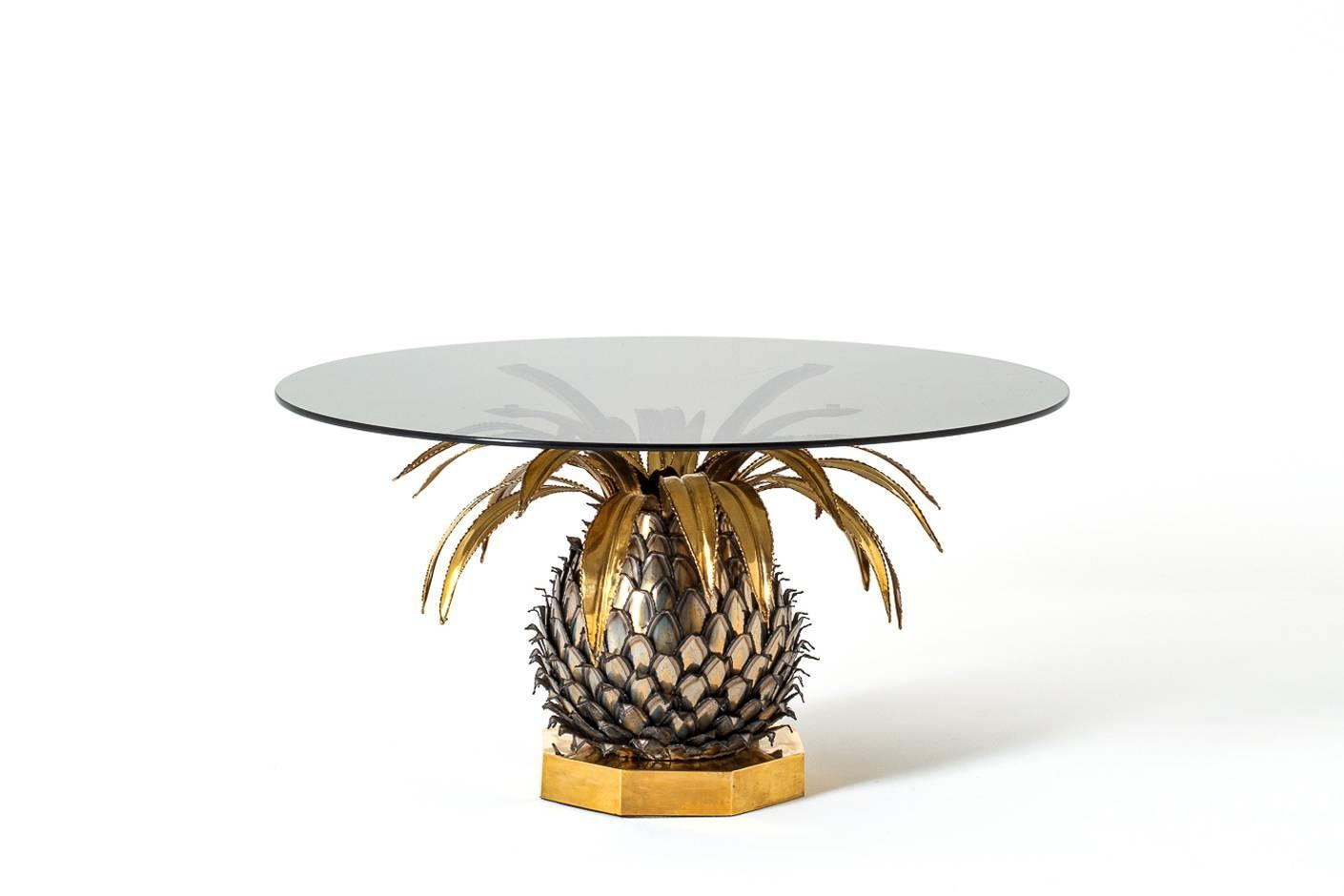 maison jansen pineapple cocktail table france 1970 at With pineapple coffee table