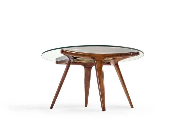 Gio Ponti Style Coffee Table At 1stdibs