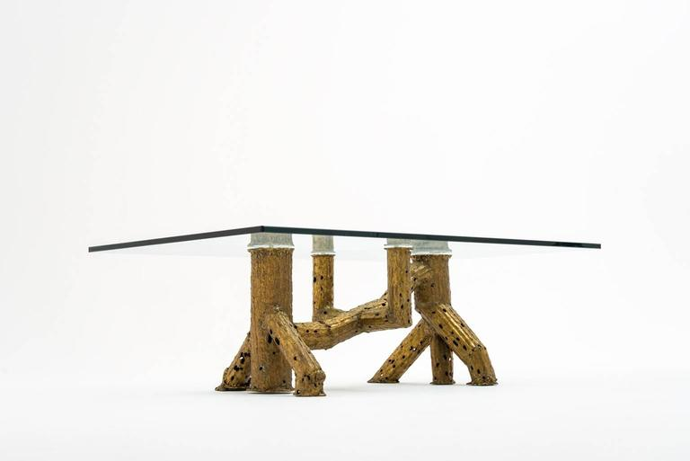 Mid-Century Modern Sculptural Coffee Table by P. Moerenhout For Sale