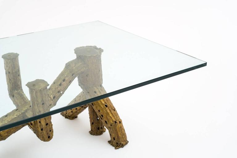 Belgian Sculptural Coffee Table by P. Moerenhout For Sale