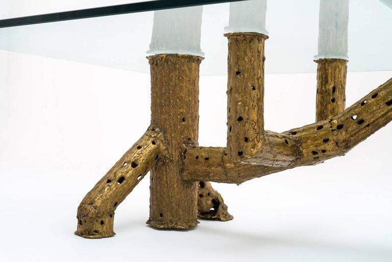Sculptural Coffee Table by P. Moerenhout In Excellent Condition For Sale In Rotterdam, NL