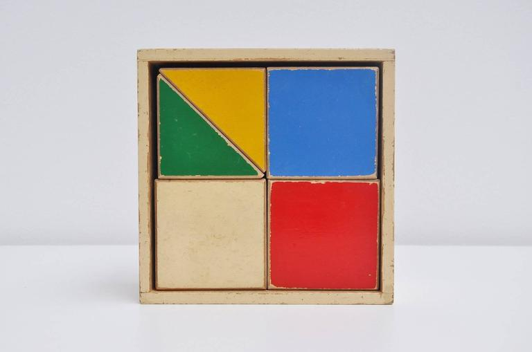 Ado ko verzuu puzzle box decorative kids toy 1950 at 1stdibs for Mid century modern toy box