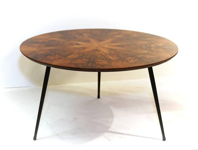 Mid Century Walnut Veneer Coffee Table For Sale At 1stdibs