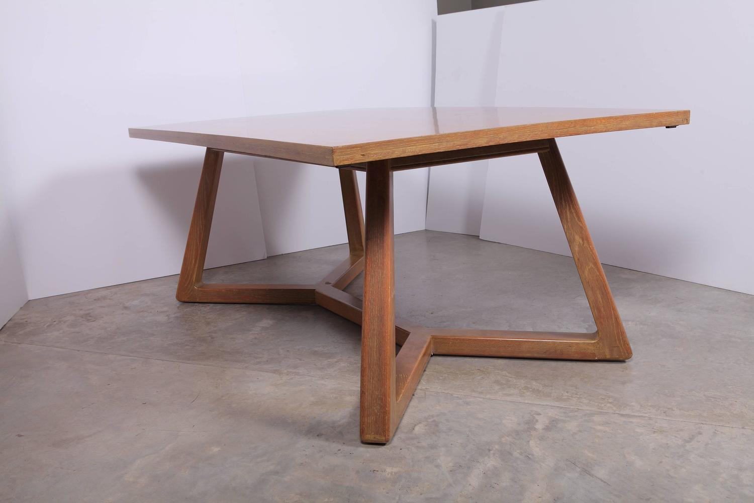 Mid 20th century limed oak romweber dining table designed by harold schwartz for sale at 1stdibs - Limed oak dining tables ...