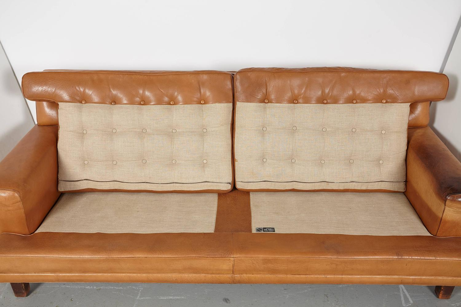 Arne norell merkur sofa with pair of matching lounge for Settee without back