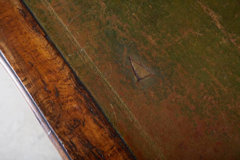 Large William IV Walnut Partners Desk For Sale 2