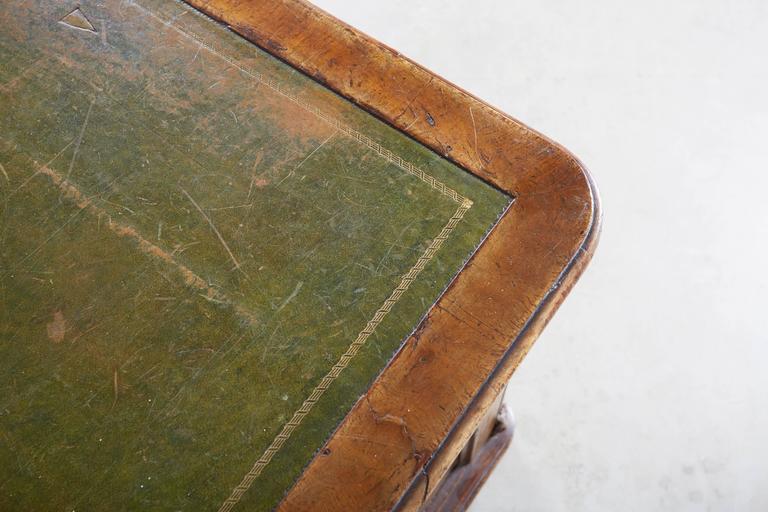 Large William IV Walnut Partners Desk For Sale 3