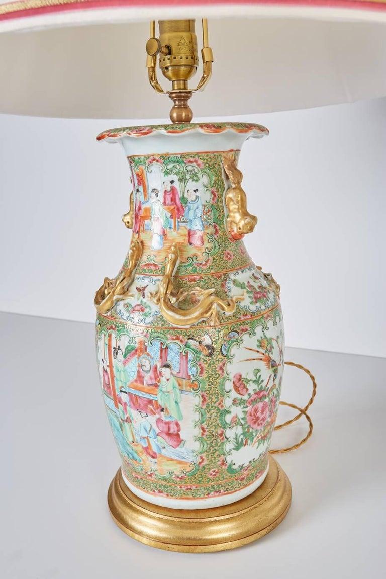 Pair Of Antique Chinese Export Rose Mandarin Vases Now