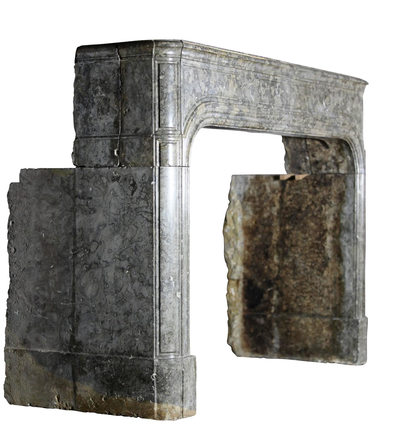 17th Century Antique Hard Stone Fireplace Mantel For Sale At 1stdibs