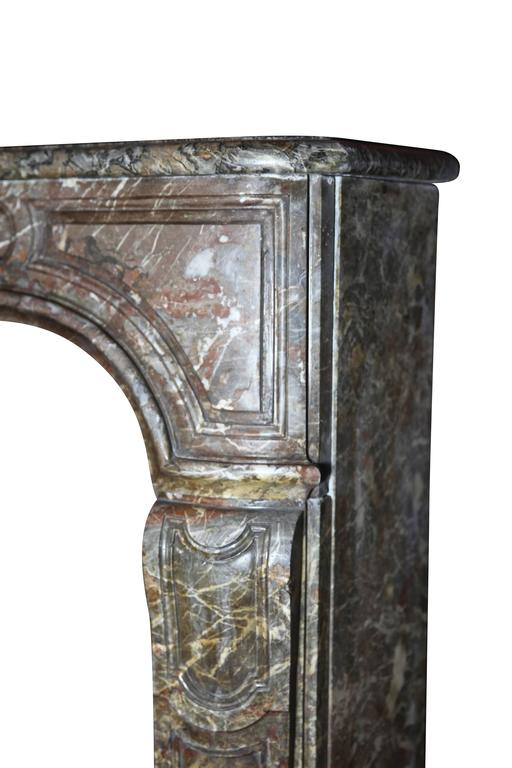 Marble 18th Century Regency Period Belgian Antique Fireplace Mantel For Sale