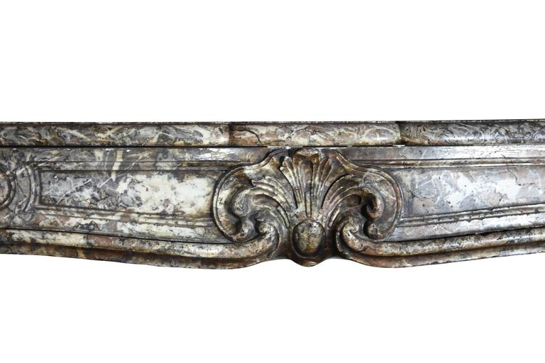 18th Century and Earlier 18th Century Regency Period Belgian Antique Fireplace Mantel For Sale