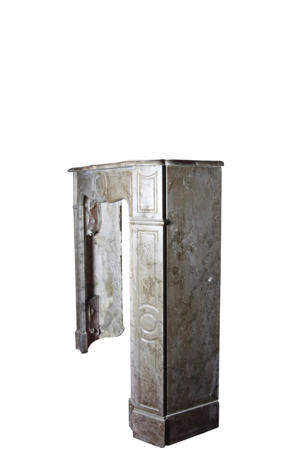 19th Century Antique Fireplace Mantel In Marble For Sale At 1stdibs