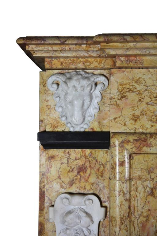20th century art deco antique fireplace mantel for sale at