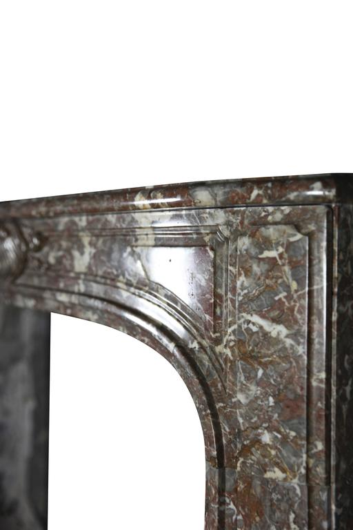 18th Century Belgian Marble Antique Fireplace Mantle from the Regency Period For Sale 1