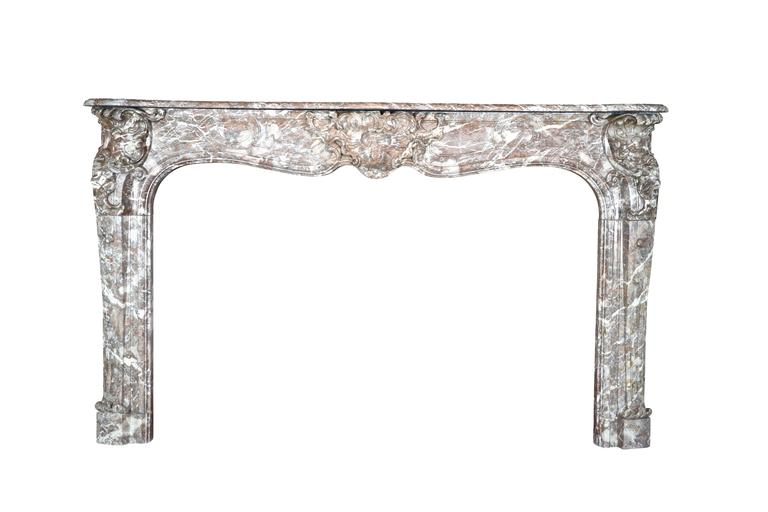 18th Century Antique Marble Fireplace Mantel from the Regency Period