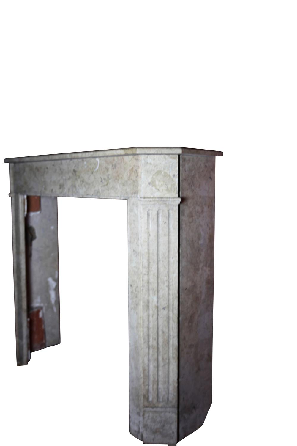 19th Century Antique Fireplace Mantel In Combanchien Marble Stone For Sale At