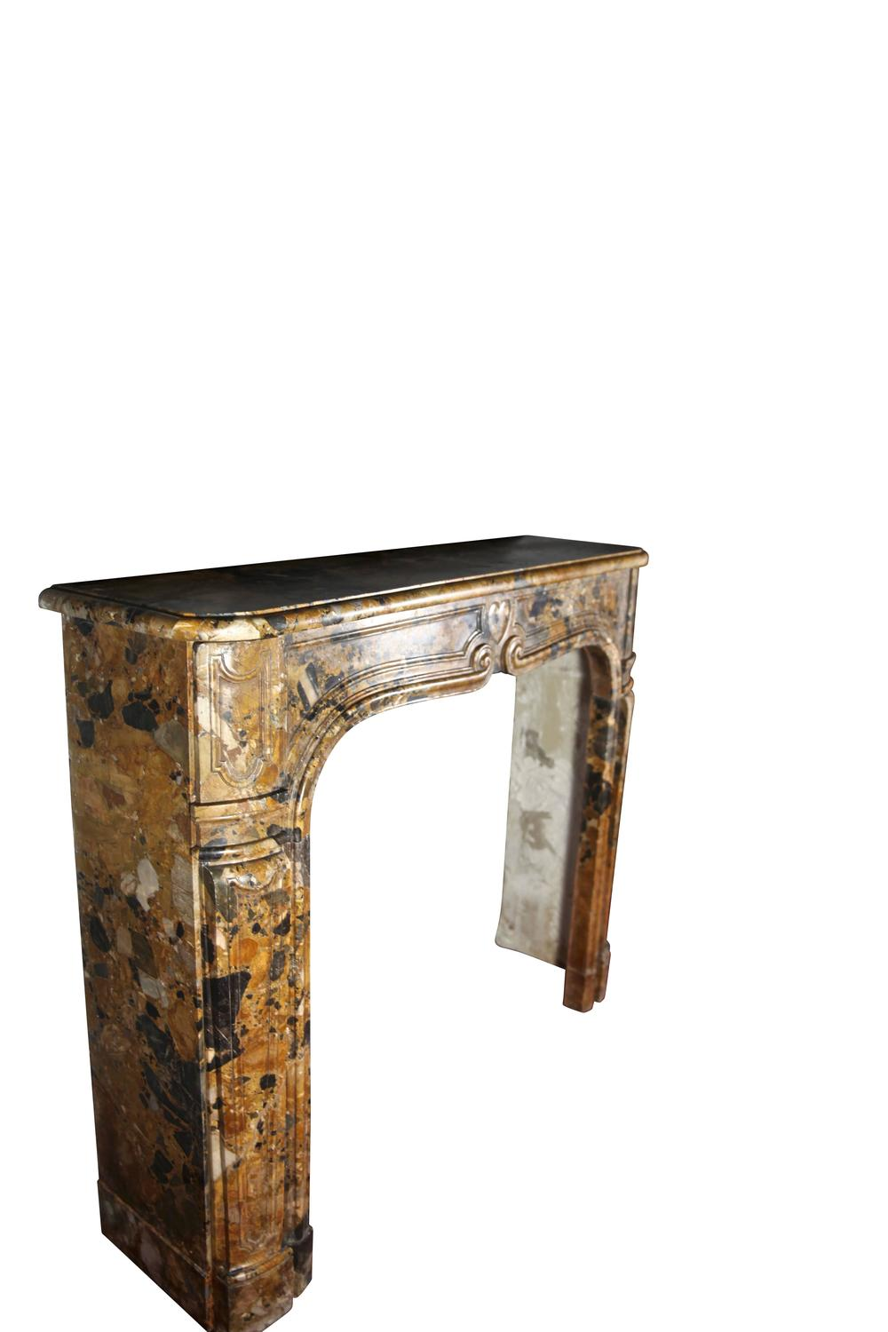 18th Century Italian Antique Fireplace Mantel In Breccia Marble Mantel For Sale At 1stdibs