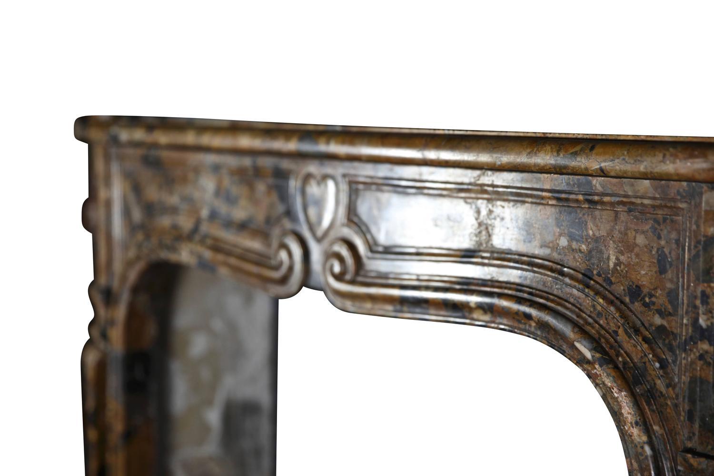 18th century italian antique fireplace mantel in breccia
