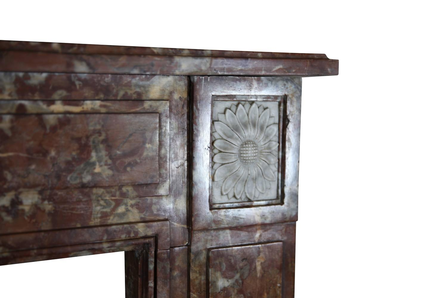 18th Century Original Antique Fireplace Mantel In Marble For Sale At 1stdibs
