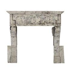 17th Century Original Antique Fireplace Mantel