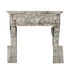 17th Century Original Antique Fireplace Mantel