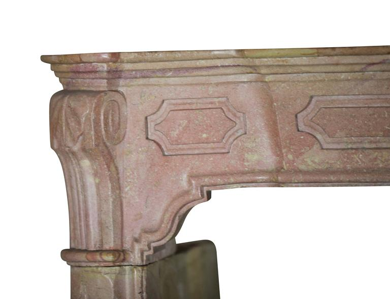 18th Century Original Pink Stone Antique Fireplace Mantle For Sale At 1stdibs