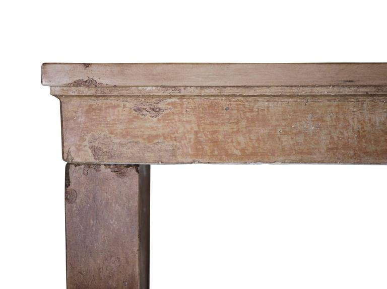 17th century antique fireplace mantel in hard stone for