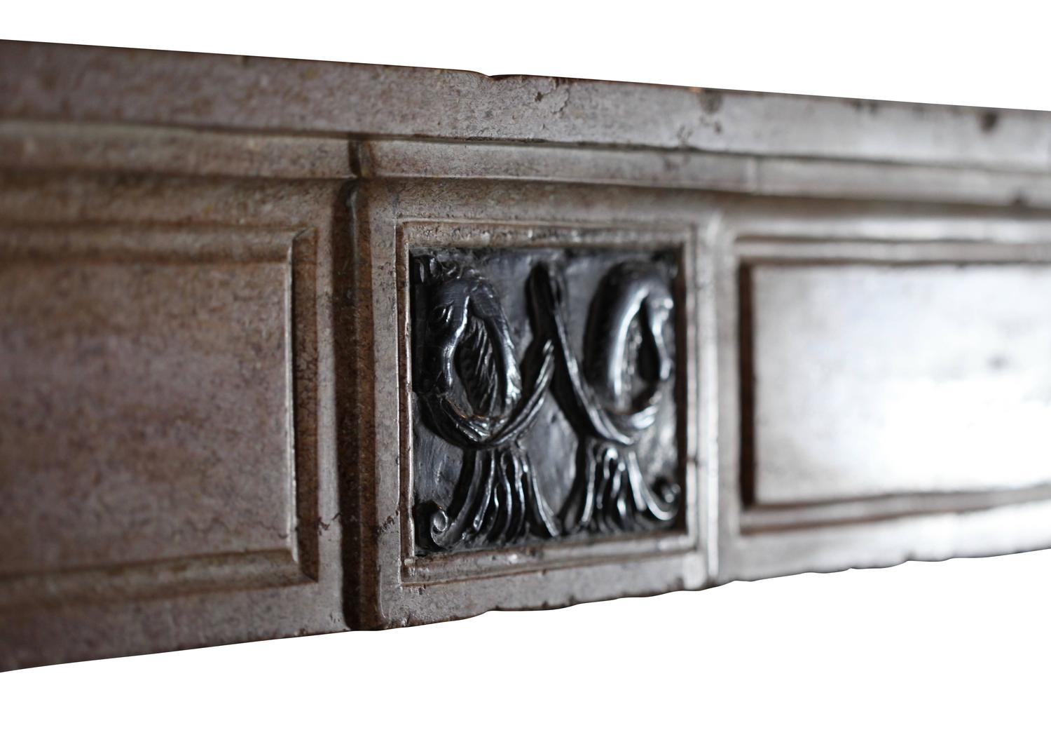 18th Century Original Antique Fireplace Mantel With Black Marble Inlay For Sale At 1stdibs