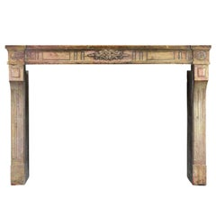 18th Century French Hard Stone Antique Fireplace Mantel, Louis XVI Period
