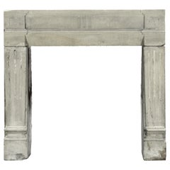 18th Century Petite Grez Stone French Country Fireplace Surround