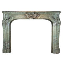19th Century French Rococo Revival Period of the Third Republic in Green Marble
