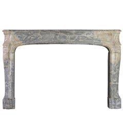 18th Century Louis XIV Fine French Antique Fireplace Mantel in Hard Stone