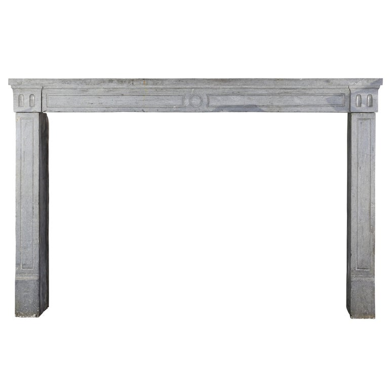 18th Century Period Fine French Marble-Stone Antique Fireplace Mantel For Sale
