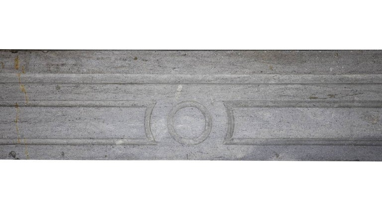 Louis XVI 18th Century Period Fine French Marble-Stone Antique Fireplace Mantel For Sale