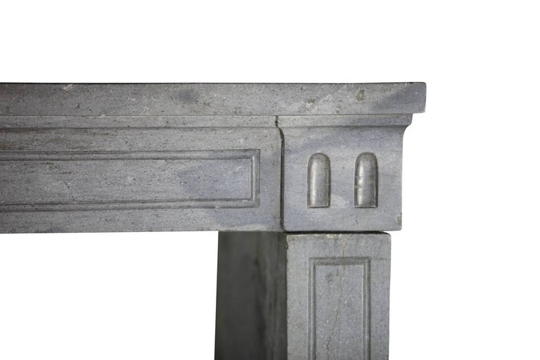Carved 18th Century Period Fine French Marble-Stone Antique Fireplace Mantel For Sale