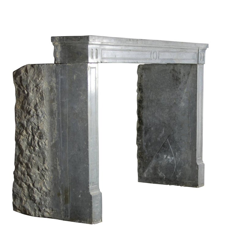 18th Century Period Fine French Marble-Stone Antique Fireplace Mantel In Good Condition For Sale In Beervelde, BE