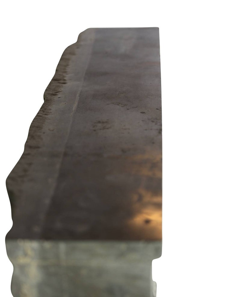 18th Century Period Fine French Marble-Stone Antique Fireplace Mantel For Sale 1
