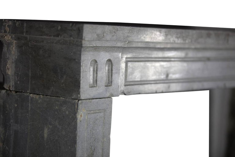 18th Century Period Fine French Marble-Stone Antique Fireplace Mantel For Sale 4