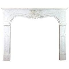 19tes Jahrhundert Regency Stil weißer Carrara Marmor antike Kamineinfassung