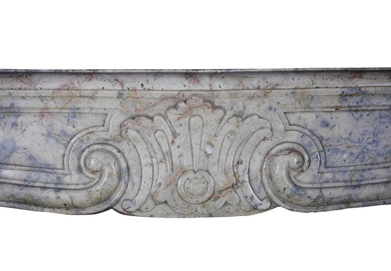 Regency 18th Century Fine European Vintage Marble Hard Stone Antique Fireplace Mantel  For Sale