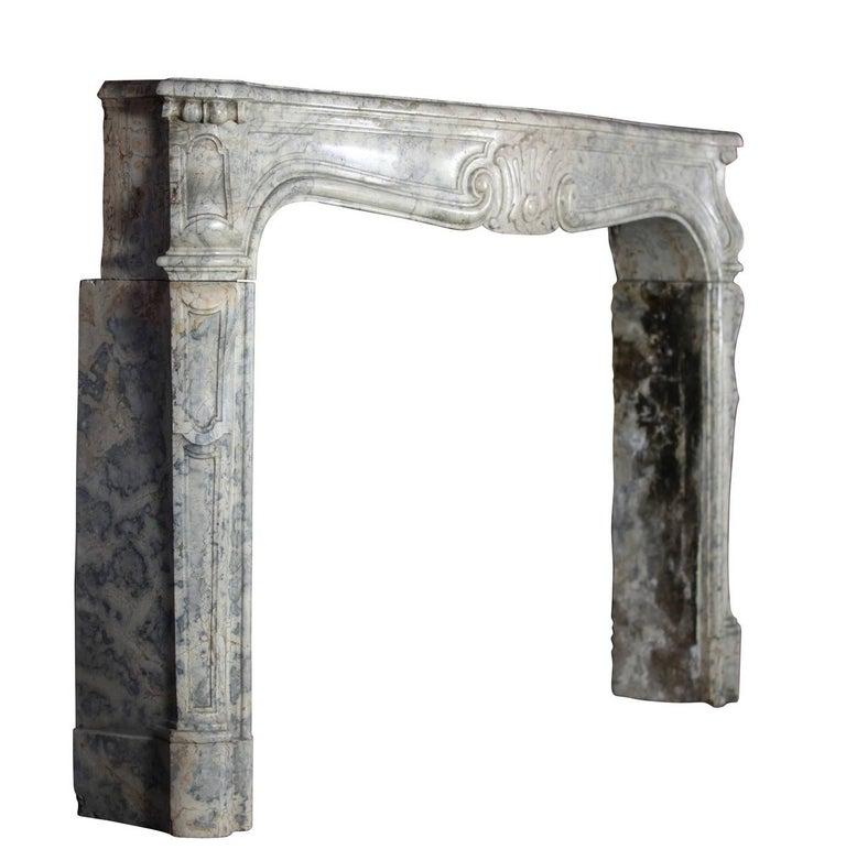 18th Century Fine European Vintage Marble Hard Stone Antique Fireplace Mantel  For Sale 2