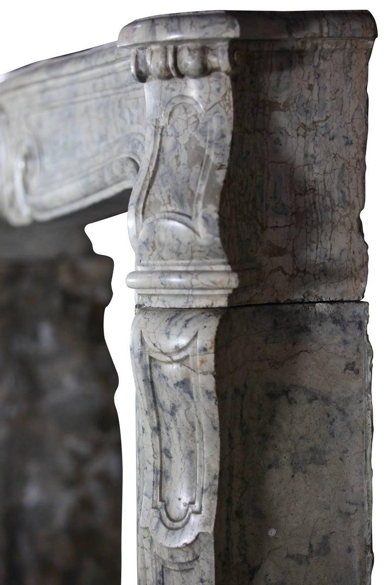 18th Century Fine European Vintage Marble Hard Stone Antique Fireplace Mantel  For Sale 4