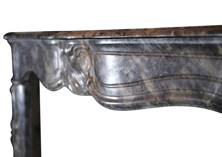18th Century Grey Marble Fine Antique Regency Fireplace Surround In Excellent Condition For Sale In Beervelde, BE