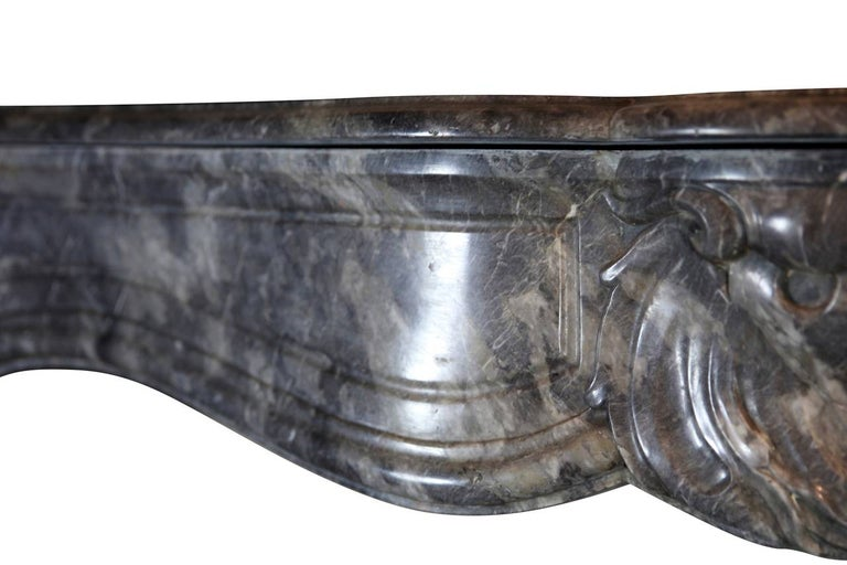 18th Century Grey Marble Fine Antique Regency Fireplace Surround For Sale 1
