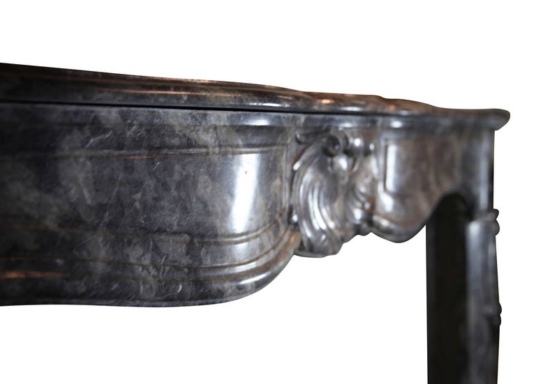 18th Century Grey Marble Fine Antique Regency Fireplace Surround For Sale 2