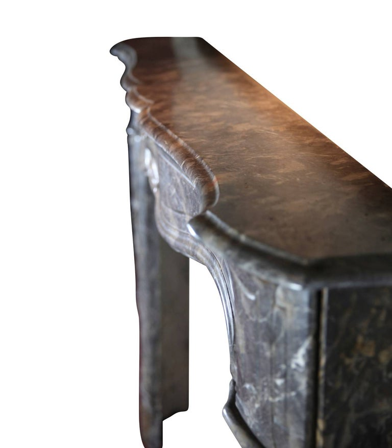 18th Century Grey Marble Fine Antique Regency Fireplace Surround For Sale 3