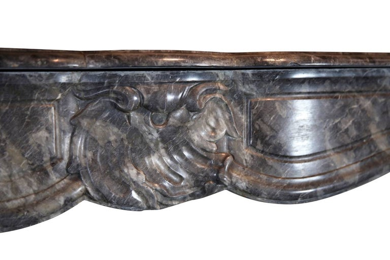18th Century Grey Marble Fine Antique Regency Fireplace Surround For Sale 4
