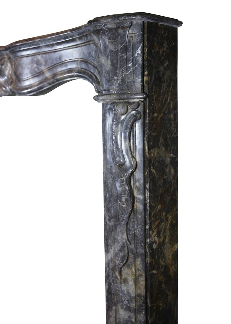 18th Century Grey Marble Fine Antique Regency Fireplace Surround For Sale 5