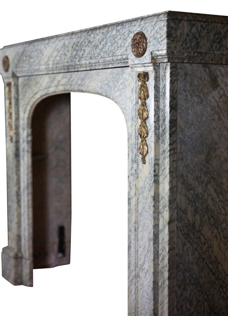 20th Century Green Art Deco Belgian Antique Fireplace Mantel For Sale 1